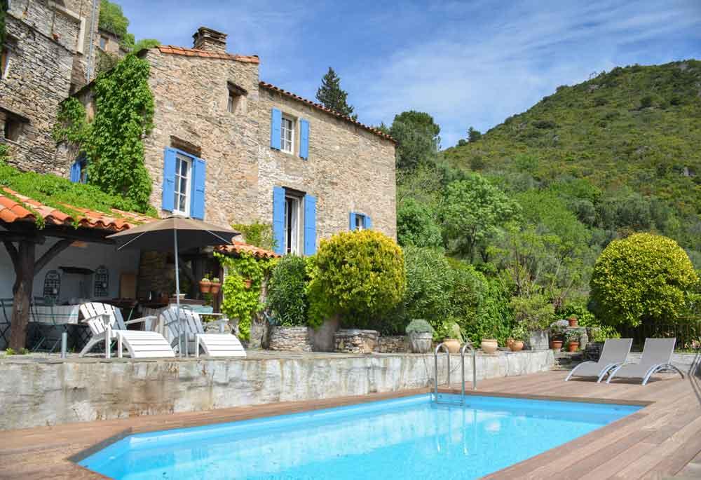 les terrasses, piscine privée