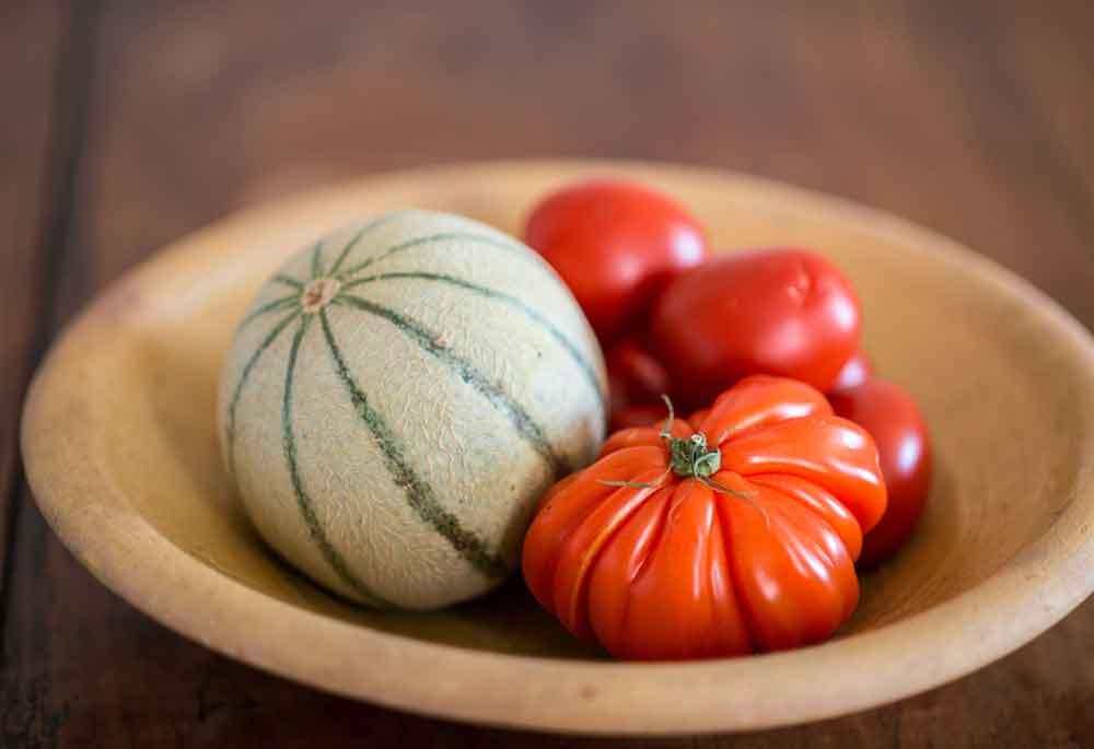 melon et tomates