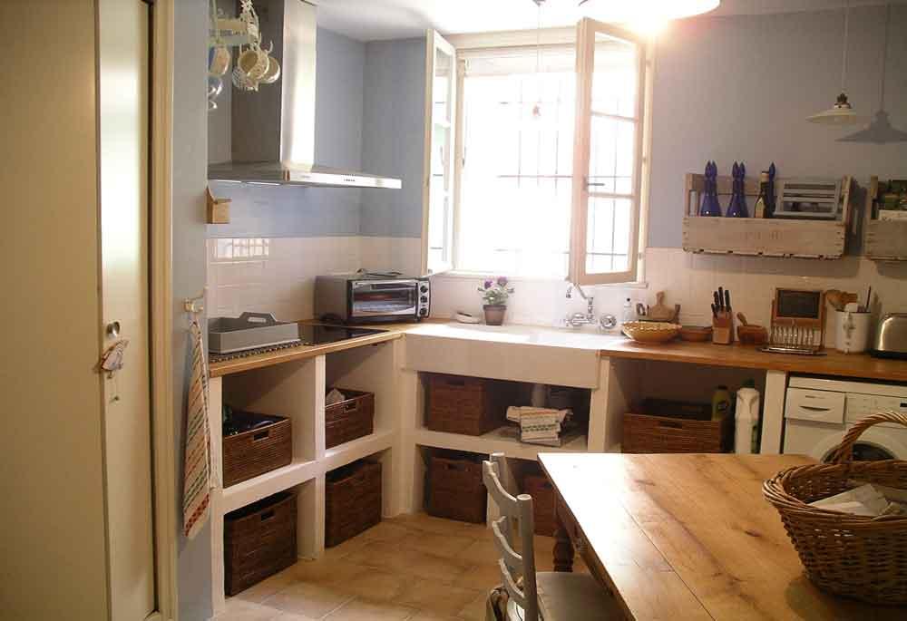 stylish French kitchen